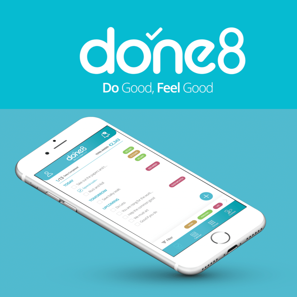 done8 Mobile App UI/UX Design and Branding