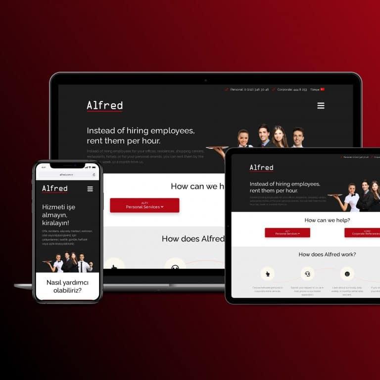 Alfred Concierge Hizmetleri WordPress Website