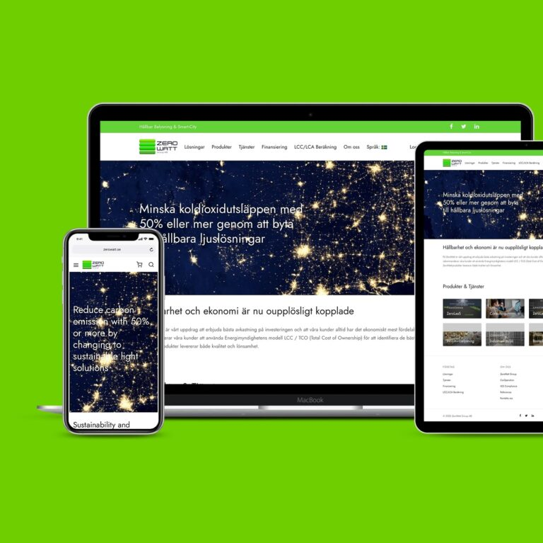ZeroWatt Group WordPress Website + WooCommerce Wholesale Supported